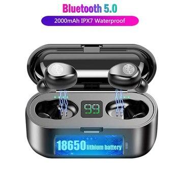 F9 Tws Wireless Earphone Bluetooth V5.0 Stereo Earphones Sport Gaming Headset Waterproof Headphone With Mic LED Charger box