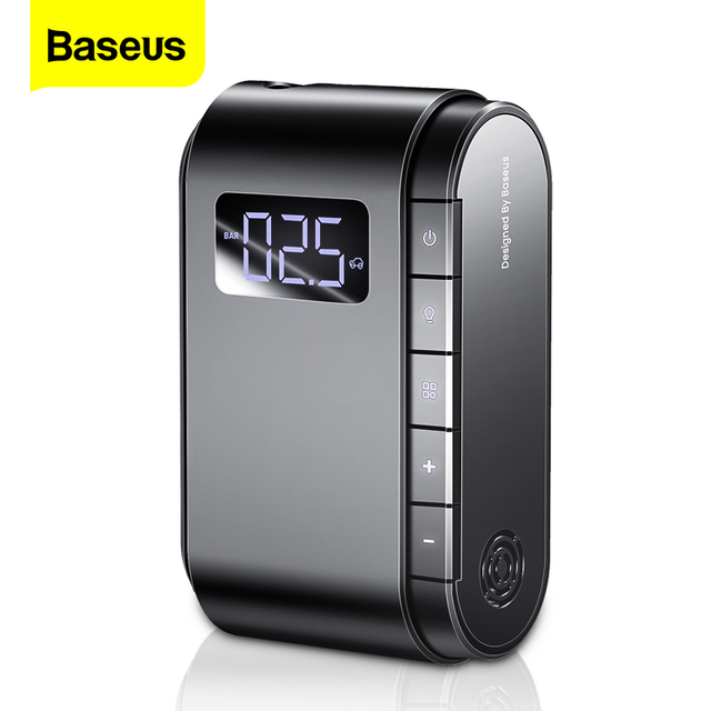 Baseus Air Compressor Car Tyre Inflator Motorcycle Bicyle Tire Inflatable Digital Portable Electric Auto Pump for Car Compressor