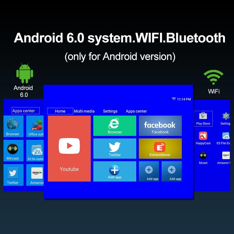 CAIWEI intelligent WiFi Bluetooth Android Portable petit Mini projecteur soutien HD vidéo cinéma maison Heimkino HDMI VGA projecteur - 4