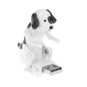 Portable Mini Cute PC USB Gadgets Funny Humping Spot Dog Rascal Dog Toy Relieve Pressure Toy for Office Worker