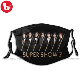 Super Junior Kpop Mouth Face Mask Super Junior Super Show Facial Mask Fashion with Filters for Adult Mask