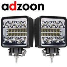 ADZOON-Luz LED de trabajo antiniebla para coche, conjunto de luces de 126w, 10 30V 4WD 12v para camión, autobús, barco