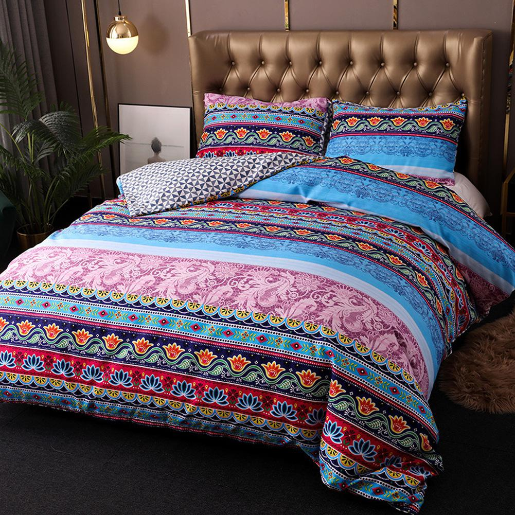 3Pcs/Set Bohemia Printing Duvet Cover Bed Pillowcases Bedding Sets