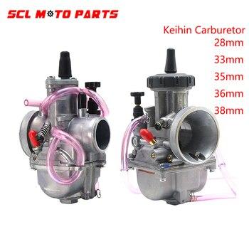 Alconstar-de la motocicleta PWK Carburador Keihin Carburetor Universal 28mm 33mm 35mm 36mm 38mm para 2T 4T motor 100cc-350cc Moto