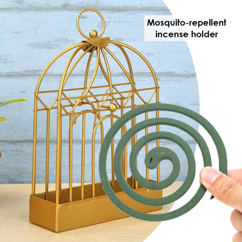 Retro Old Mosquito Incense Rack Wrought-Iron Portable Anti Slip Home Decor(China)