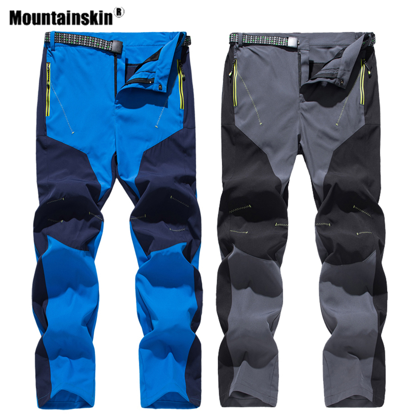 Mountainskin Men Women's Summer Single Layer Quick Dry Pants Outdoor  Trekking Trousers Breathable Hiking Camping Climbing VA754-Leather bag