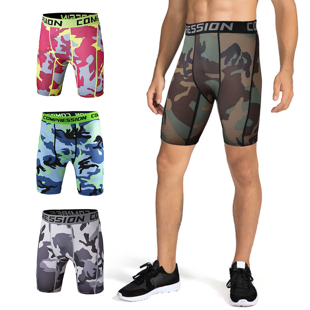 Mens Short Pants Compression Running Gym Cycling Sports Base Layer Shorts Soft