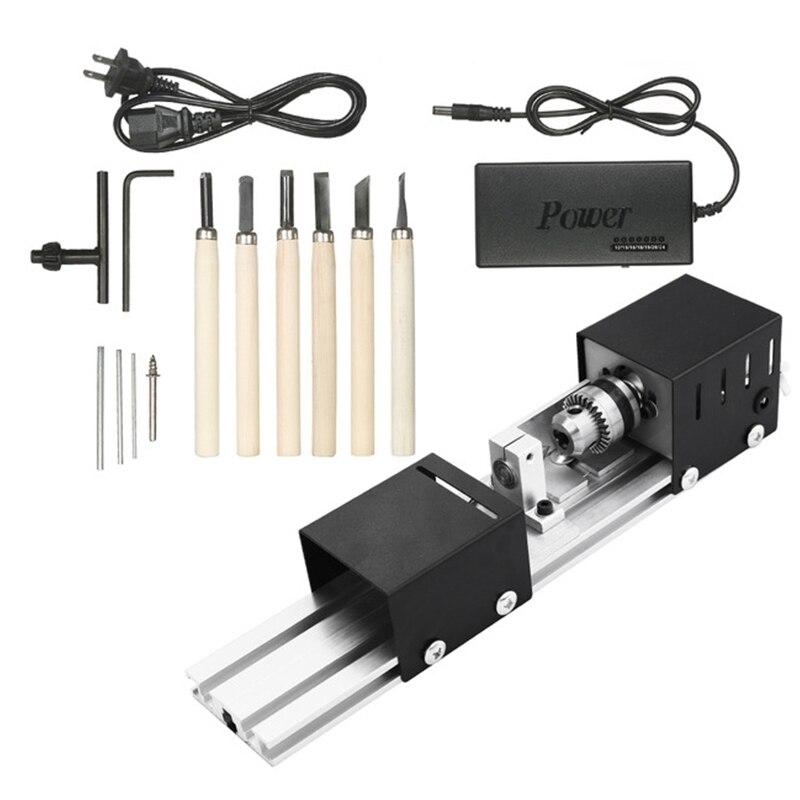 GTBL США вилка 100 Вт машина мини токарный станок Diy деревообрабатывающий токарный станок шлифовальный и блестящий бисер шлифовальный станок р..., Инструменты