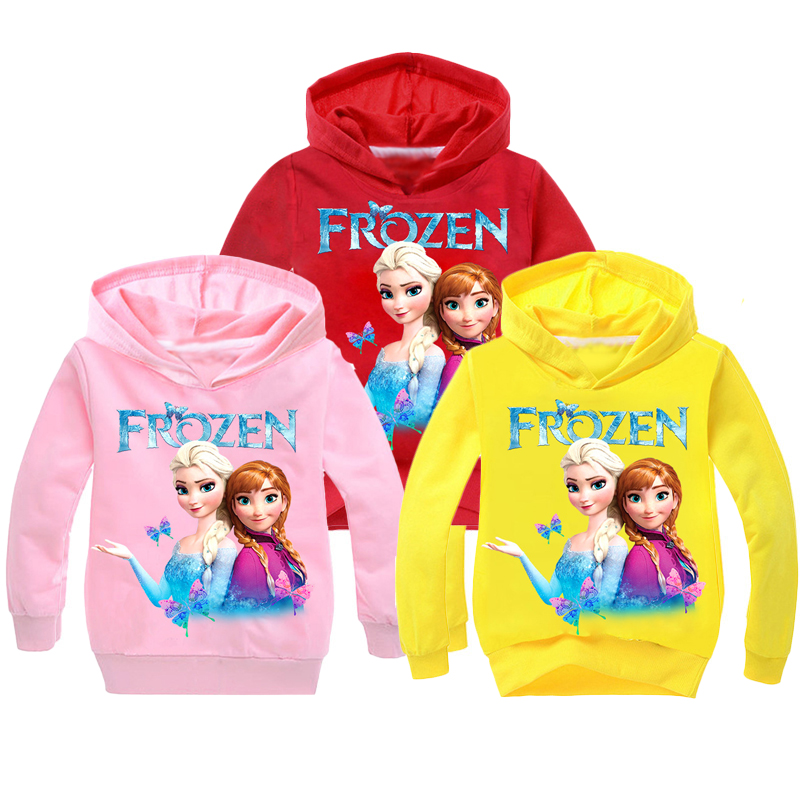 New 2019 Kids Baby Boys Girls Toddlers Frozen 2 Elsa Anna Printing Hoodies Cartoon Tracksuit Children Clothing Cute Sweatshirts