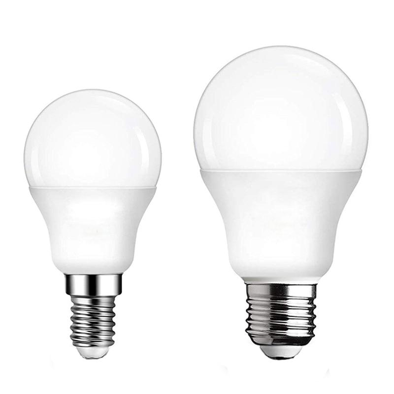 E27 Lamp 3W 6W 9W 12W 15W 18W 20W LED Bulb Lamps E27 E14 Light Bulb 220V-240V Smart IC High Brightness Lampada LED Bombillas