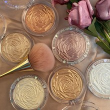 Hudamoji 6 Colors Highlighter Powder Glitter Palette Makeup Glow Face Contour Shimmer Illuminator Highlight Brighten Cosmetics
