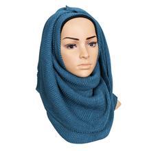 Yfashion Женские Хлопок Мусульманский Платок Простой Однотонный Головы Шеи Шляпа Хиджаб