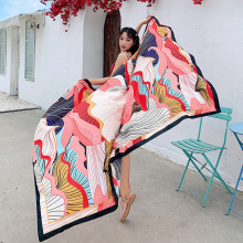 Travel Beach Towels large Size  Vintage Ethnic Style Scarf  Women Sun Shade Retro Cotton Tapestry Pashmina Yoga 190x140cm