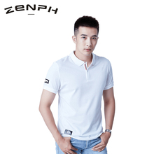 Zenph Men Polo Shirt Men Outdoor Business Casual Solid Male Polo Shirt Short Sleeve High Quality Pure Cotton Breathable T-shirt