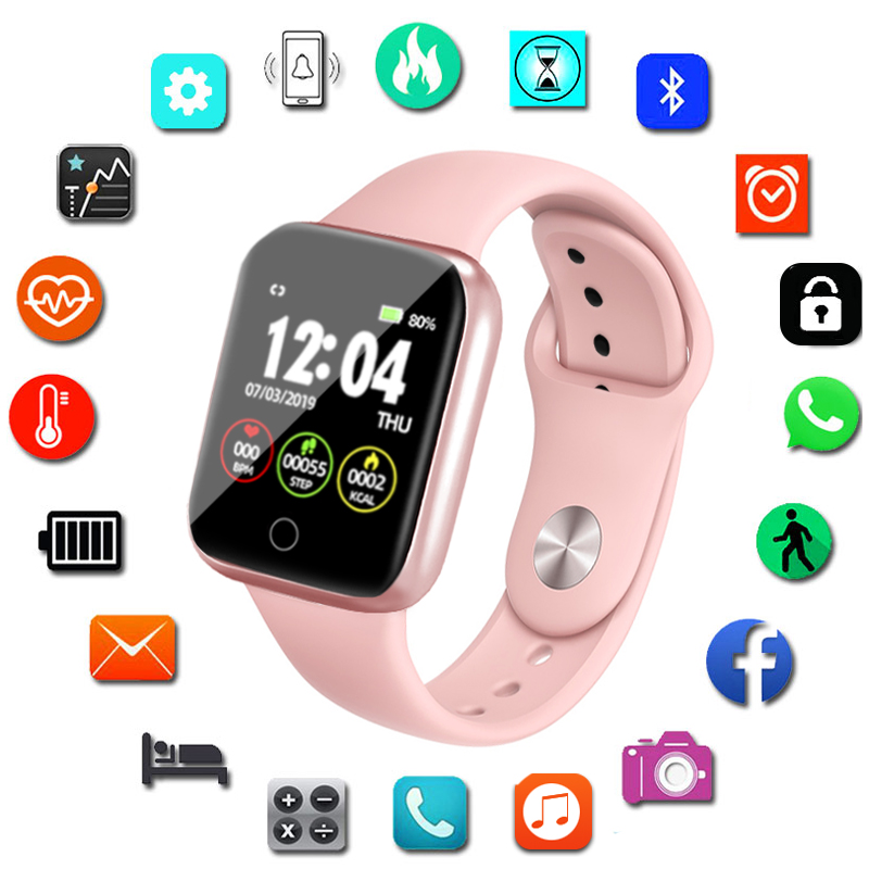 I5 Smart Watch Pedometer Music Control Multiple Dials Heart Rate Fitness Smartwatch Women Android VS B57 Smart Watch For Apple