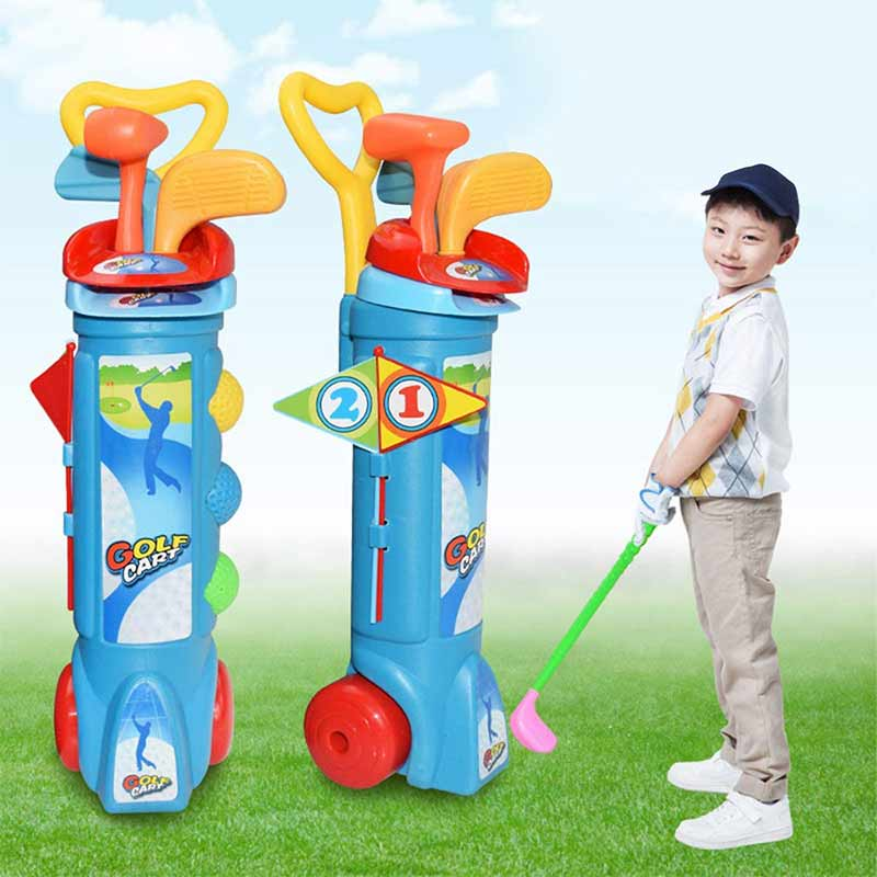 Купить с кэшбэком Golf Toys Sports Kids Toy Golf Set Children'S Golf Toy Clubs Children Educational Toy