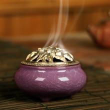 Ceramic Incense Burners Portable Porcelain Censer Buddhism Holder Home Tea House Yoga Studio