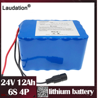 Laudation 24 v 12ah bicicleta elétrica bateria de lítio 24 volt12.8ah motor ebike bateria de íon de lítio para 250 w bicicleta elétrica