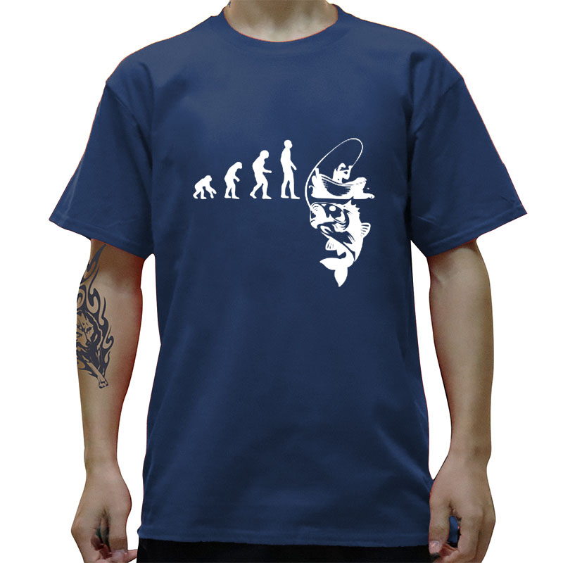 t shirt Mens T-shirt EVOLUTION OF MAN fishing carp fishing fisherman funny joke