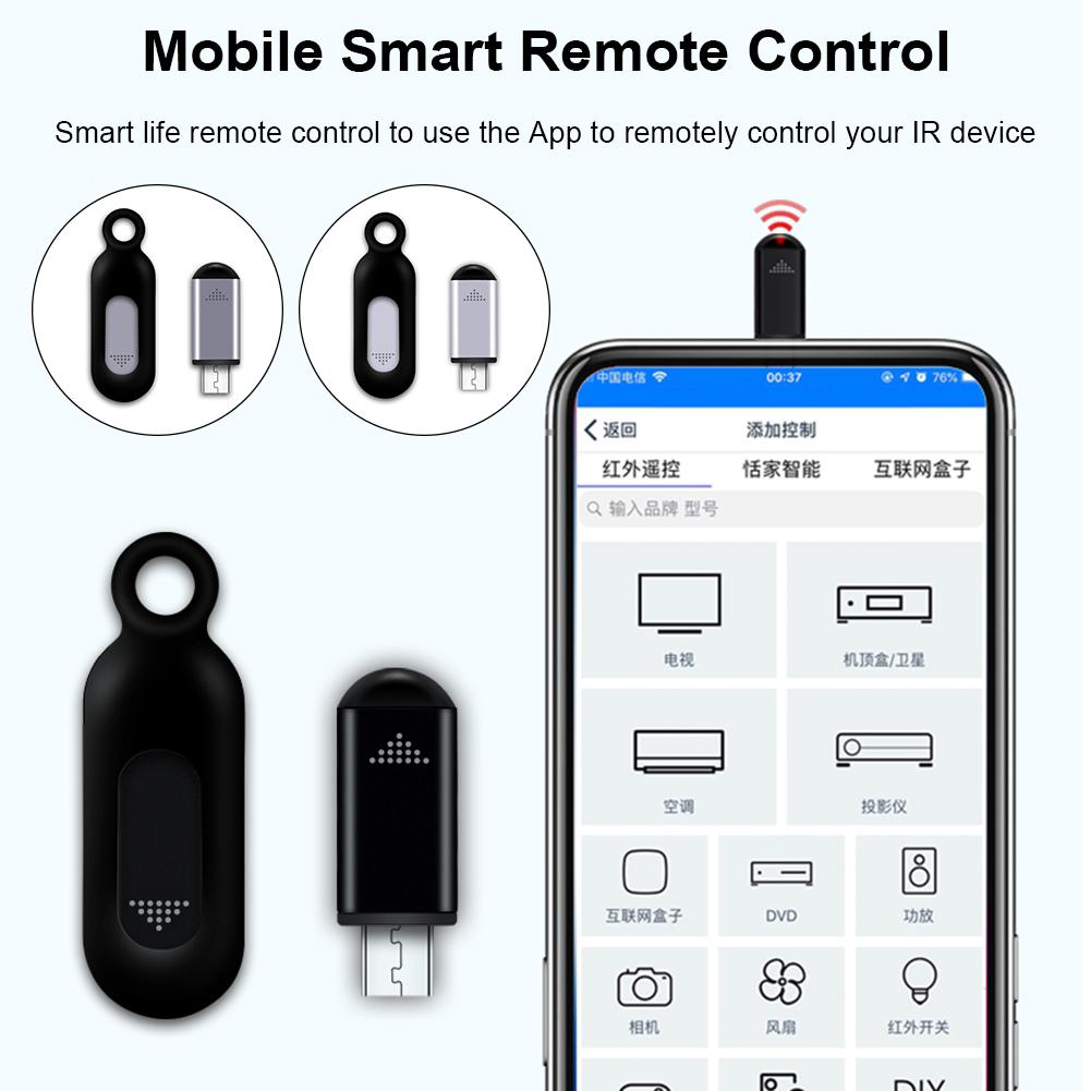 Mini Smart Mobile Phone Remote Control Stable IR Appliance Infrared Remote Control for Micro Android Cell Phone