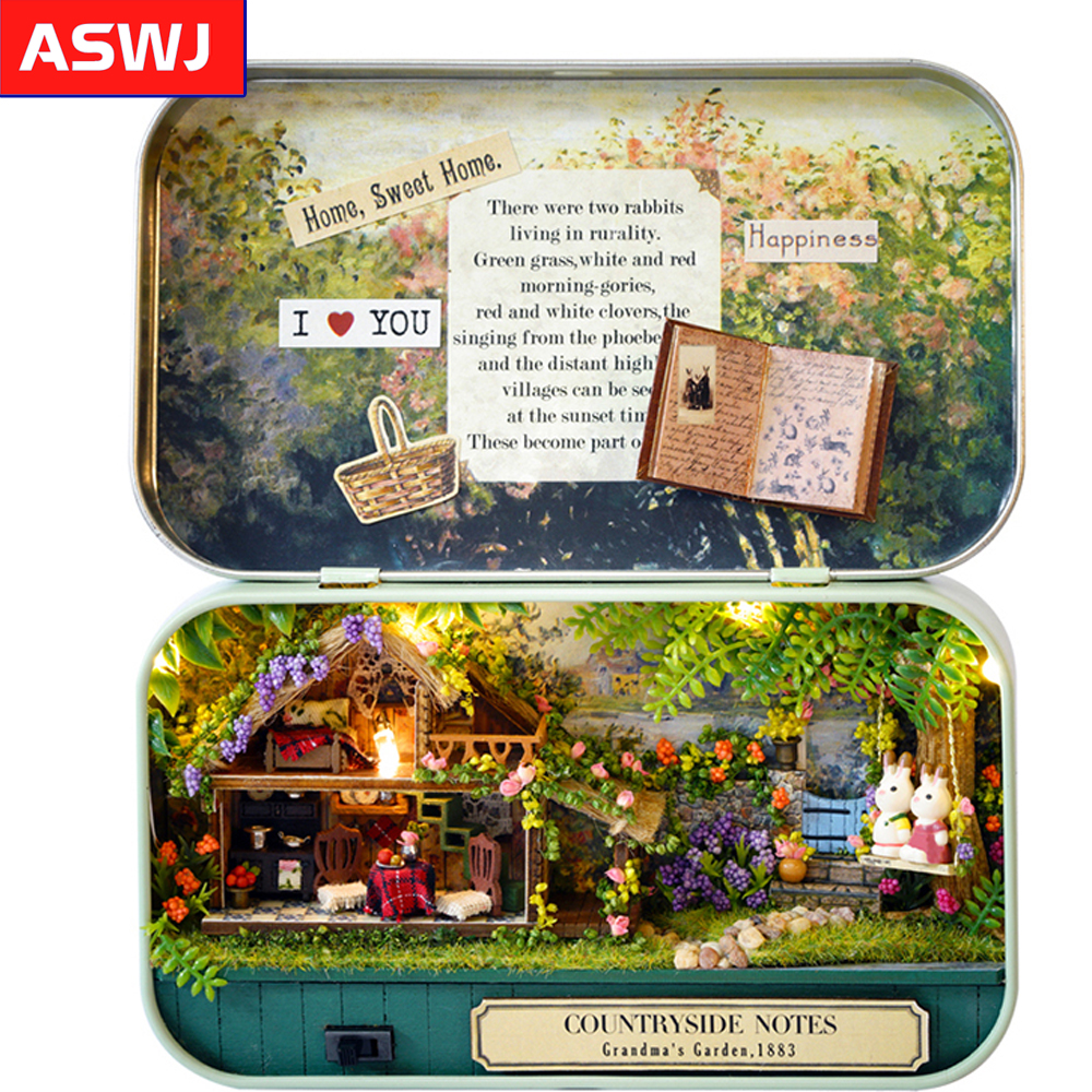 DIY Miniature 3D Wooden Dollhouse Handmade Furniture Roombox Dollhouse Miniatures Toys For Christmas And Birthday Classic Gifts