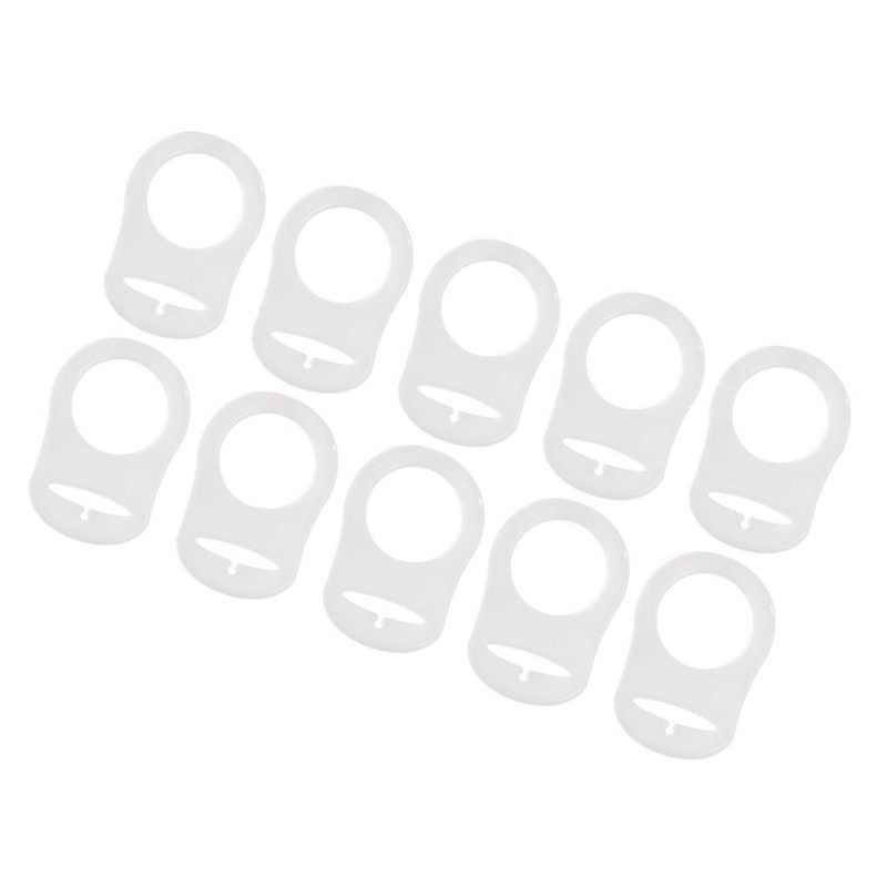 10 قطعة خاتم سيليكون زر مام هوة حامل المعرضة كليب محول شفاف