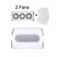 20W Nail Suction Dust Collector EU/US Plug Large Size Strong Nail Vacuum Cleaner Machine With 3 fans 2 2 bags Salon Tool large nail art dust suction collector nails duster vacuum cleaner machine with glazing drill tool kit