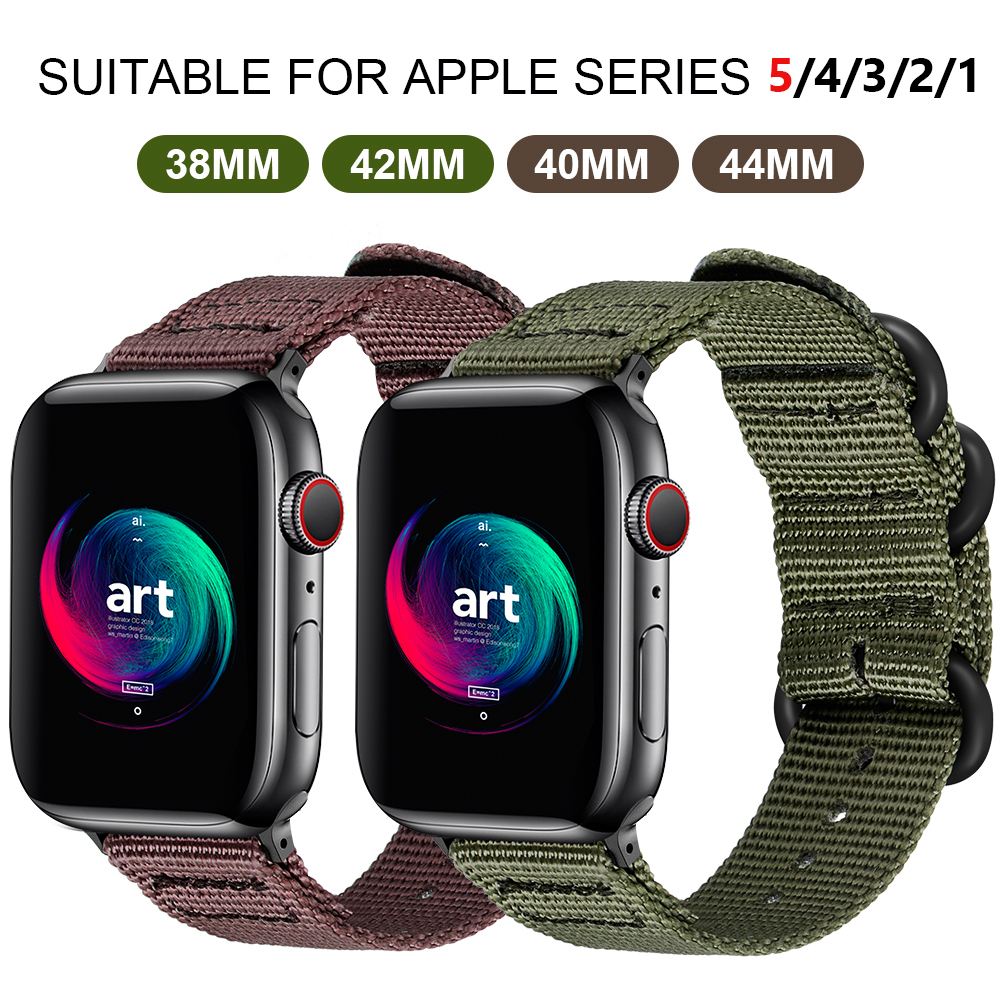 Nylon Apple Watch Nylon Watchband For Series 5 42mm 38mm Fabric-like Strap Iwatch 4/3/2/1 Suitable For 40mm 44mm Accessories