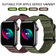 Nylon Apple Watch Watchband for Series 5 42mm 38mm fabric-like strap iwatch 4/3/2/1 Suitable 40mm 44mm accessories
