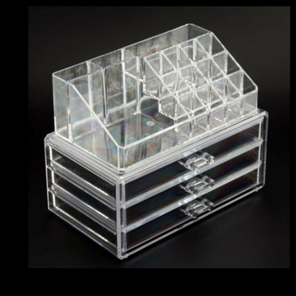 Cosmetic <font><b>Organizer</b></font> 2-Layer <font><b>Drawers</b></font> Storage Box Acrilico Desk Jewelry <font><b>Organizer</b></font> <font><b>Acrylic</b></font> Makeup <font><b>Organizer</b></font> Arrangement image