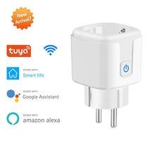 Smart Plug WiFi&Bluetooth pairing Socket EU 16A Power Monitor Timing Function Tuya SmartLife APP Control Works With Alexa Google
