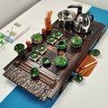 Бытовой набор для чая из цельного дерева  дренажный чайный поднос  полный набор фиолетового песка  чайный набор кунг-фу  с ящиком  чайный под...