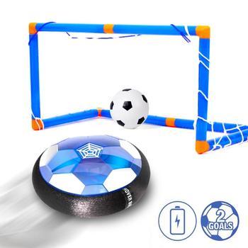 Powietrza moc USB Hover piłka do piłki nożnej zabawki akumulator powietrza piłki nożnej kryty pływające piłka do piłki nożnej z LED światła prezent na boże narodzenie dla dzieci tanie i dobre opinie Puppets Super Fibre