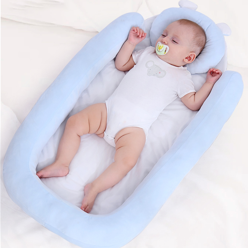 87*48*8cm Baby Nest Bed Portable Crib Travel Bed Infant Toddler Cotton Cradle For Newborn Baby Bassinet Bumper O
