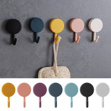 цена на SEAAN 10pcs Solid Color Free Punching Door Without Trace Nail Small Hook Clothes Hook Mounted Wall Hook Wall Hooks Decorative