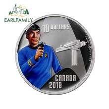 EARLFAMILY-calcomanía de oclusion para coche y motocicleta, Material de vinilo adhesivos DIY de 13cm x 12,7 cm para Star Trek de Canadá, 10 dólares