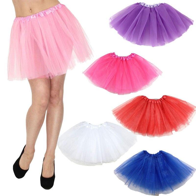 Hot Women Girl Lovely Fluffy Adult Novelty Colorful Skirt Women Tulle Tutu Dance Ballet Mini Ball Gown Skirt