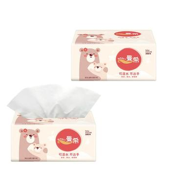 2020 Napkin Paper Yellow Bear Advertising Custom Paper Single Paper Pumping Toilet Paper Virgin Pulp Paper 10 Pieces фото