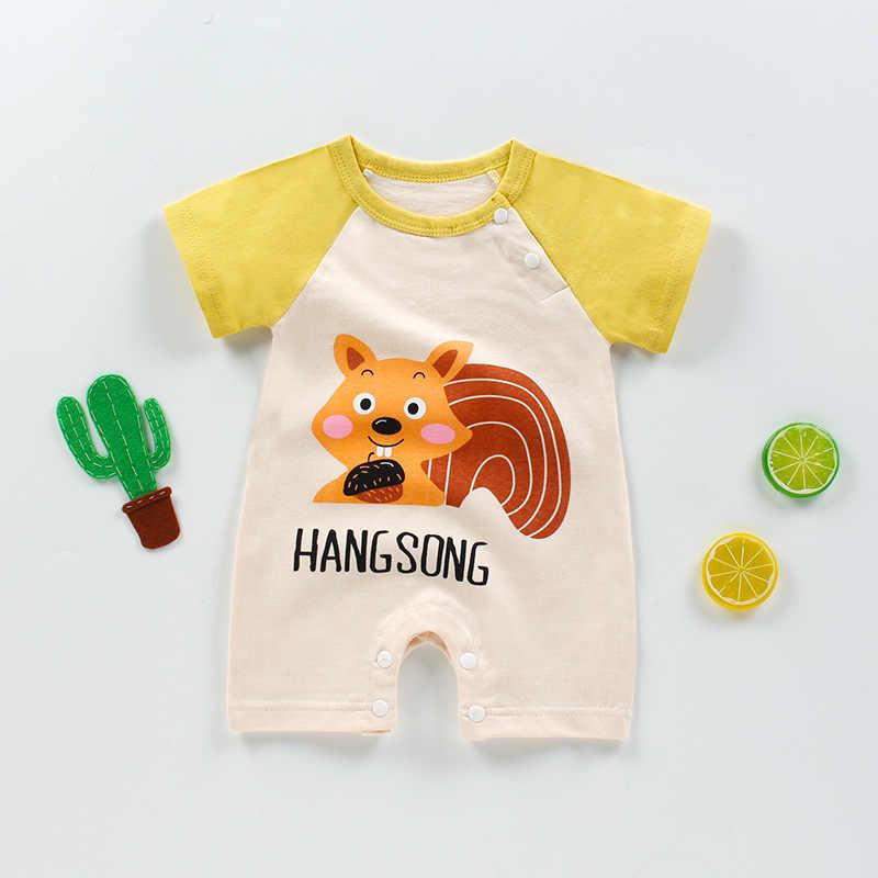 เด็กทารกฤดูร้อน Romper พิมพ์สัตว์สาวชุดสูทฝ้ายทารกแรกเกิดปีนเขาการ์ตูน Rompers ราคาถูก Stuff เด็กผลิตภัณฑ์