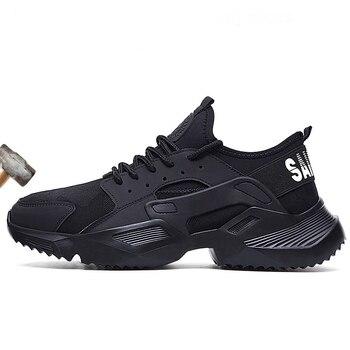 Nuevos zapatos de seguridad para el trabajo 2019 zapatillas de deporte de moda Ultra ligeras suaves para hombres transpirables antigolpes de acero botas de trabajo