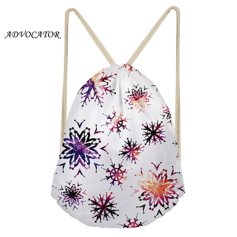 Geometric Starry Sky 3D Pattern Draw String Backpack Women Storage Package Kids Drawstring Bag Travel Package Mochila Cuerdas