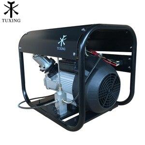 Image 3 - Smokin 4500Psi Pcp hava kompresörü otomatik durdurma yüksek basınç çift silindirli pompa pnömatik tüfek gaz tankı dolum 220V 110V