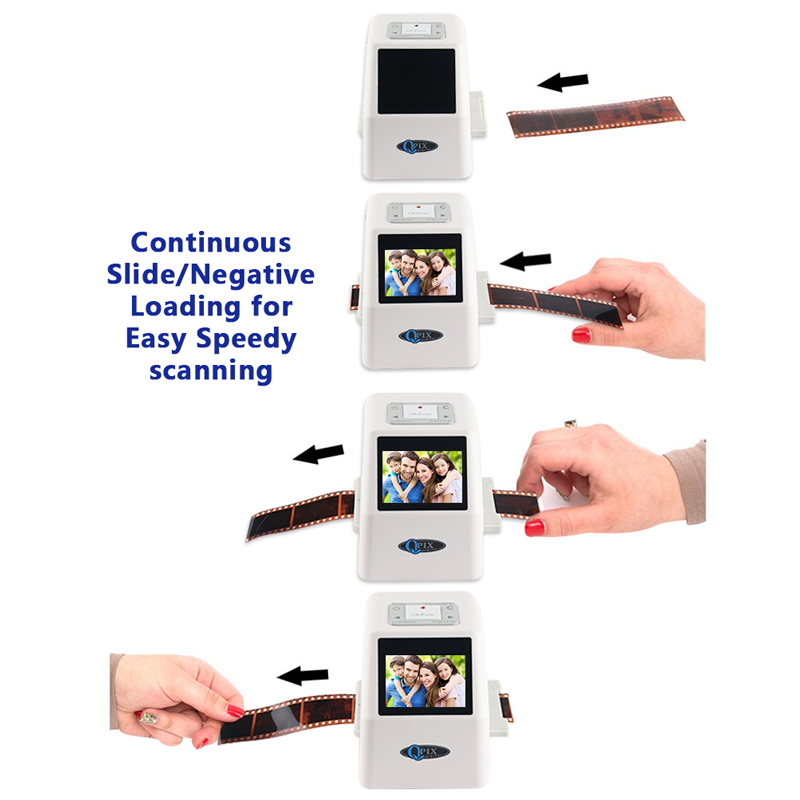 Portable 35mm Film Scanner Digital Film Converter with 22 Mega Pixels 110 135 126KPK Super 8 Negative Slide Photo Film Scanner-in Scanners from Computer & Office    1
