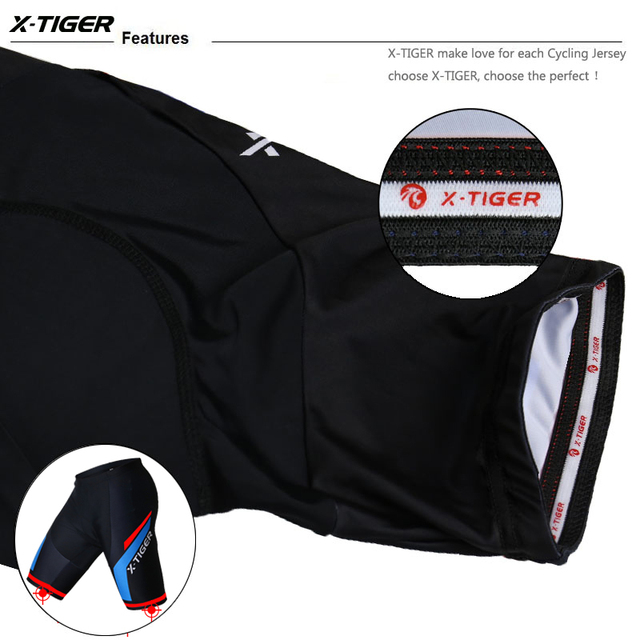 X-Tigre Coolmax 5D Rembourré Cuissard Antichoc VTT Shorts De Vélo Vélo De Route Shorts Ropa Ciclismo Collants Pour Homme femmes