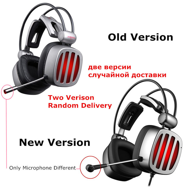 XIBERIA S21 Gaming Headset 7.1 Surround Sound Stereo Headphones with Microphone LED Light for Computer Gamer USB Game Headset 6