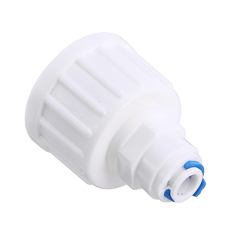 Plastic 3/4'' <font><b>BSP</b></font> To <font><b>1/4</b></font>'' Tube Push Fit Tap Connector RO Water Filter Tube Injector Garden Pipes Osmosis Connector Fitting Tool image