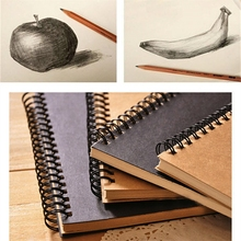 Sketchbook Diary For Drawing Painting Graffiti Soft Cover Black Paper Sketchbook Notepad Notebook Office School Supplies
