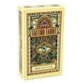 78 stücke Tattoo Tarot Karten Voller Englisch Bord Spiel Tarot Karte Deck Familie Party Unterhaltung Spiel Spielkarten PDF Anweisungen