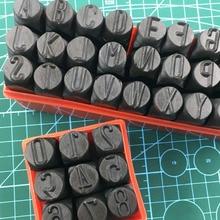 Стальной штамповочный набор для штамповки, инструмент для штампов с цифрами, буквами и алфавитом, инструменты для самостоятельного изготов...
