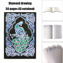 1Pc DIY Special Shaped Diamond Painting Notebook 50 Pages A5 Sketchbook Notebook Diamond Embroidery Cross Stitch Diary Book 5pcs diy diamond painting cross stitch army soldier sunset full square diamond mosaic beaded embroidery rhinestones h366